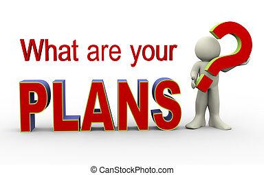 qué, -, plan, 3d, su, hombre