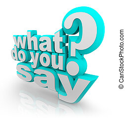 qué, signo de interrogación, ilustrado, decir, palabras, ...