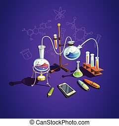 química, ciencia, concepto