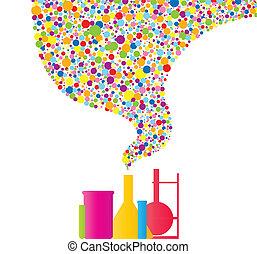 química, coloridos