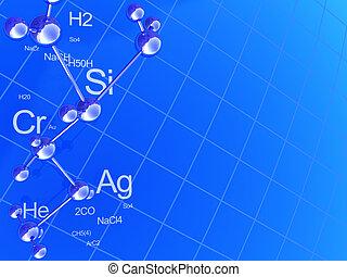 química, plano de fondo
