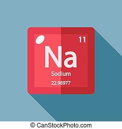 químico, apartamento, elemento, sódio