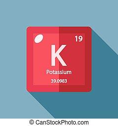 químico, apartamento, potássio, elemento