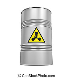 químico, arma, barril, aislado