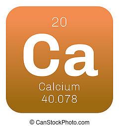 químico, calcio, elemento