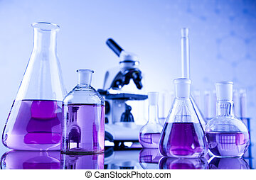 químico, ciência, equipamento laboratório