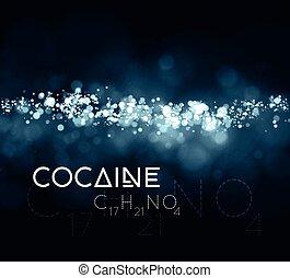 químico, cocaína, formula., polvo