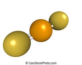 químico, disulfide, selenio, estructura