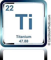 Titanio elemento tabla peridica render fondo aislado qumico elemento titanio de el tabla peridica urtaz Choice Image