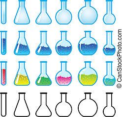 químico, equipo de ciencia