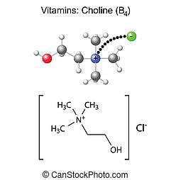químico, fórmula, choline