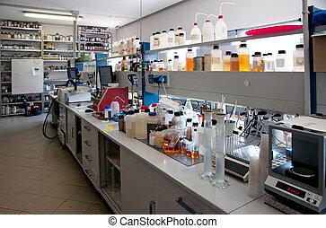 químico, laboratório, análise