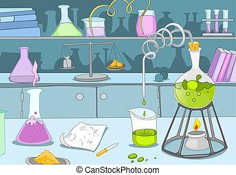 químico, laboratório