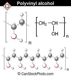 Químico Polímero Amylose Corrente Polímero Estrutura