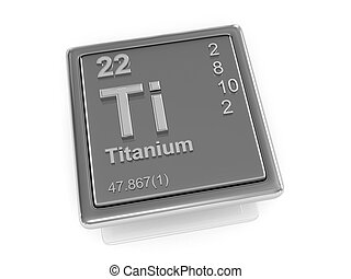 químico, titanium., element.