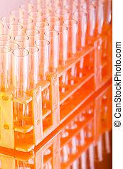 químico, vidrio, laboratorio, tubería
