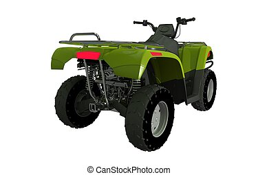 Quad Bike ATV Rear View