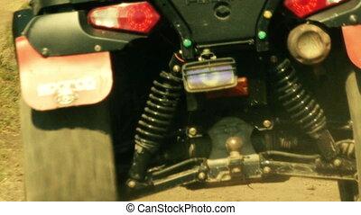 Quad bike cross country - View of ATV ( All Terrain...