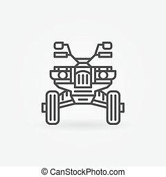 Quad bike icon or logo