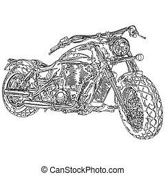 Quad bike, motorcycle, 3D model - Quad bike. 3D model body...