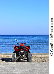 Quad bike on the beach