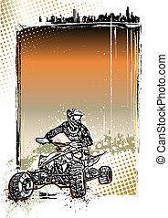 quad bike poster background