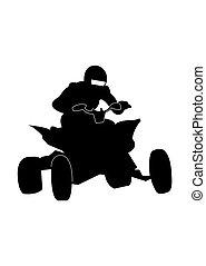 Quad bike racer icon