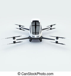 Quad Copter for humans isolated on white. 3d illustration