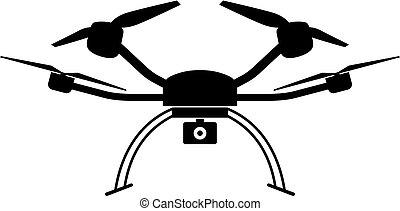 quad, copter, pictogram