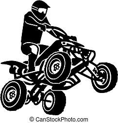 Quad driver making a stunt