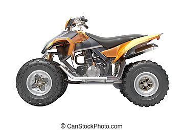 Quad isolated - Quad All Terrain Vehicle isolated on white...