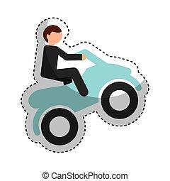 quad motorcycle extreme sport