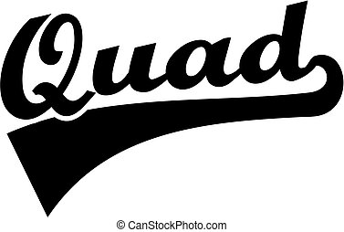 Quad retro word