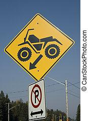 Quad sign - Quad crossing sign warning