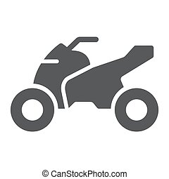 Quadbike glyph icon, bike and extreme, ATV motorcycle sign,...
