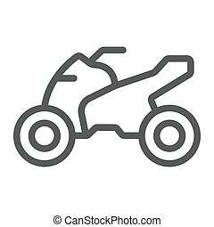 Quadbike line icon, bike and extreme, ATV motorcycle sign,...