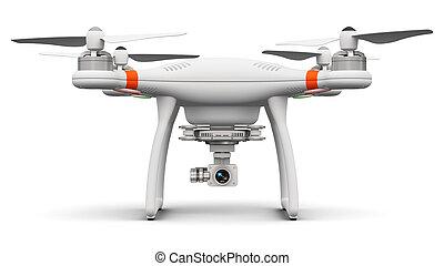 quadcopter, brummen, mit, 4k, video, und, fotokamera