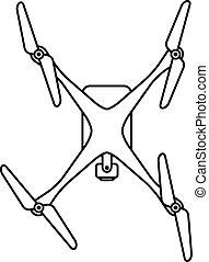 quadcopter, cima, fuco