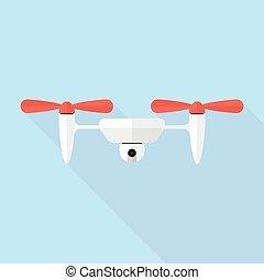 Quadcopter drone with camera.