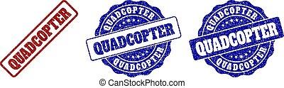 QUADCOPTER Grunge Stamp Seals