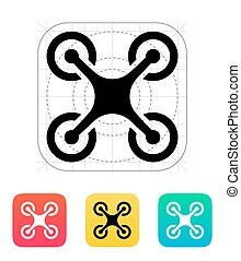 Quadcopter icon. Vector illustration.