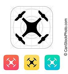 quadcopter, icon., zangão