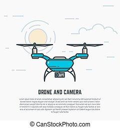 Quadcopter line illustration