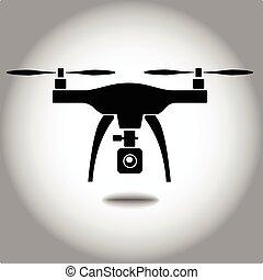 quadcopter, macchina fotografica, rc, fuco
