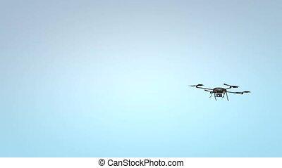 Quadcopter. Micro drone.