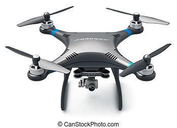 quadcopter, photo, bourdon, appareil photo, vidéo, 4k
