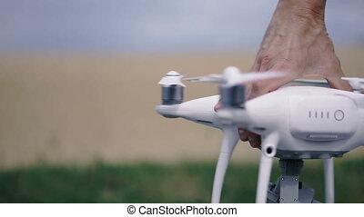 Quadcopter. Quadcopter screws are included.