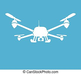 quadcopter symbol - This is an illustration of quadcopter...