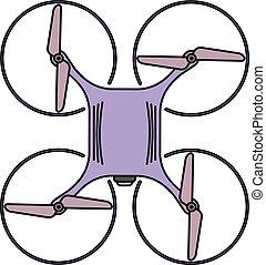 quadcopter, topo, zangão