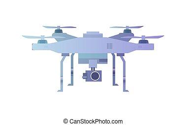 quadcopter, truteń, antena, aparat fotograficzny.